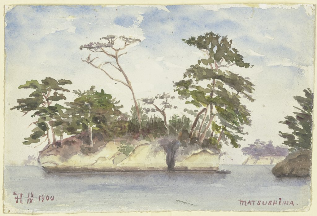 Group of islands off Matsushima, Fritz Hauck