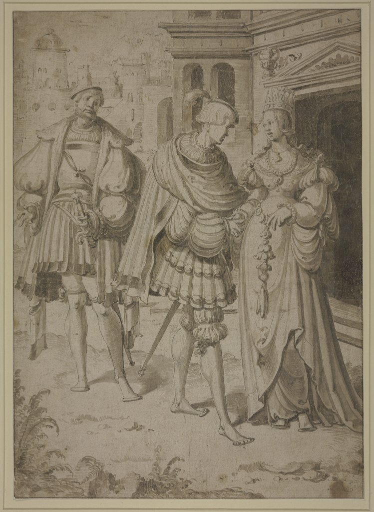Elegant couple, Netherlandish, 16th century, Aert Claesz   ?