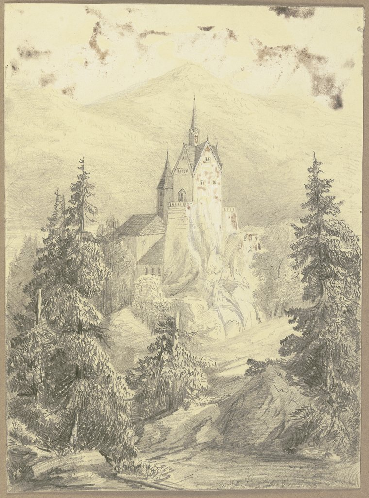 Church in the mountains, German, 19th century