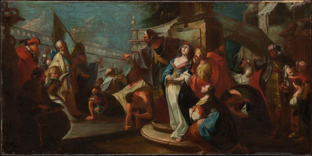 The Elders Accusing Susanna of Adultery, Vinzenz Fischer   attributed