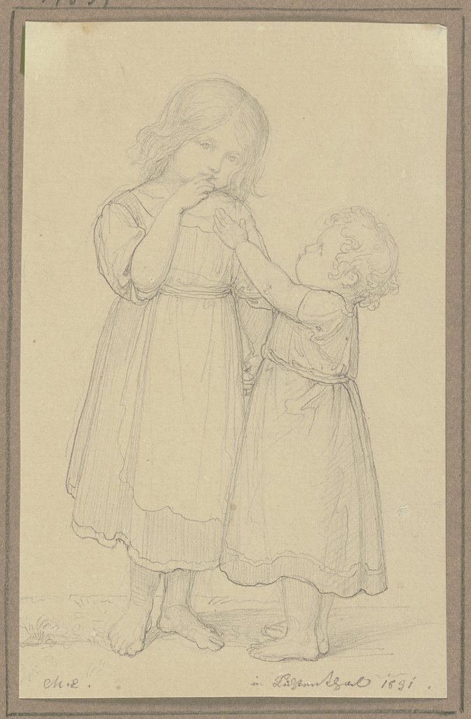 Two small girls, Marie Ellenrieder