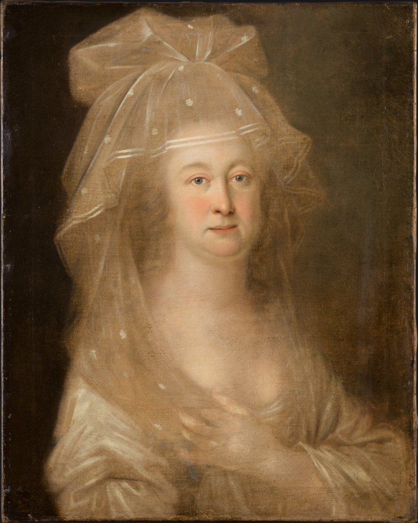 Portrait of a Woman wearing a Veil, German Master of the Second Half of the 18th Century