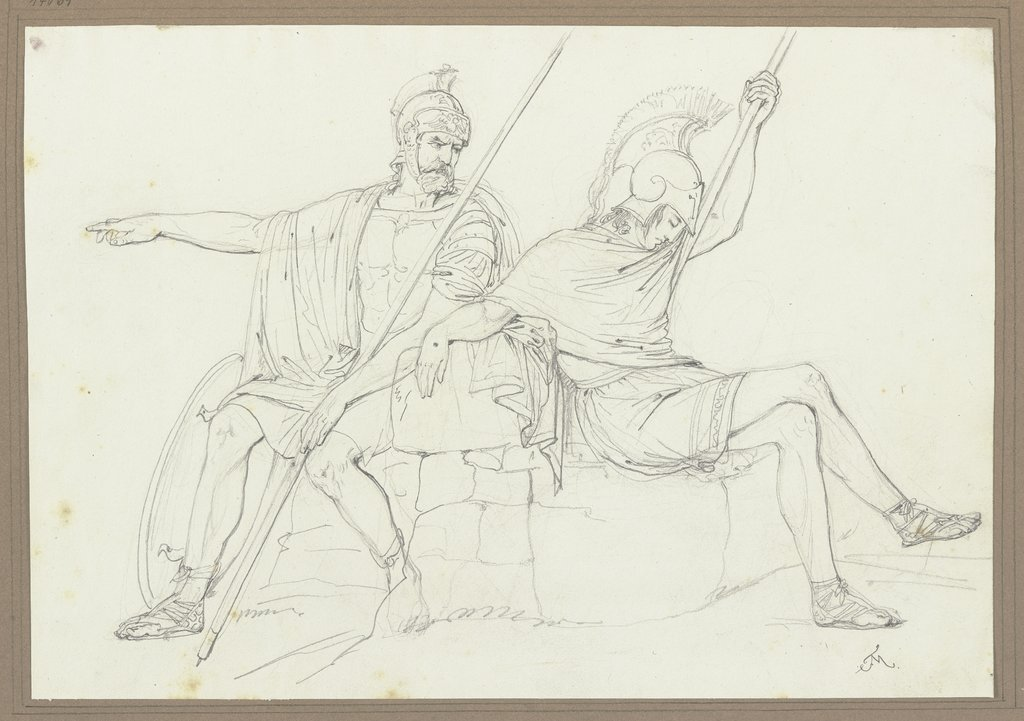 Two Greek heroes, Friedrich Moosbrugger