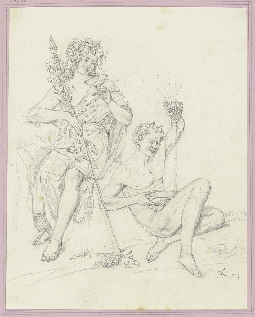 Bacchus and Faun, Friedrich Moosbrugger