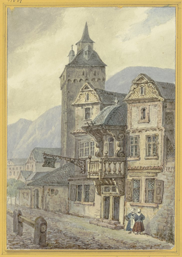 Old houses and a tower, Hector von Günderrode