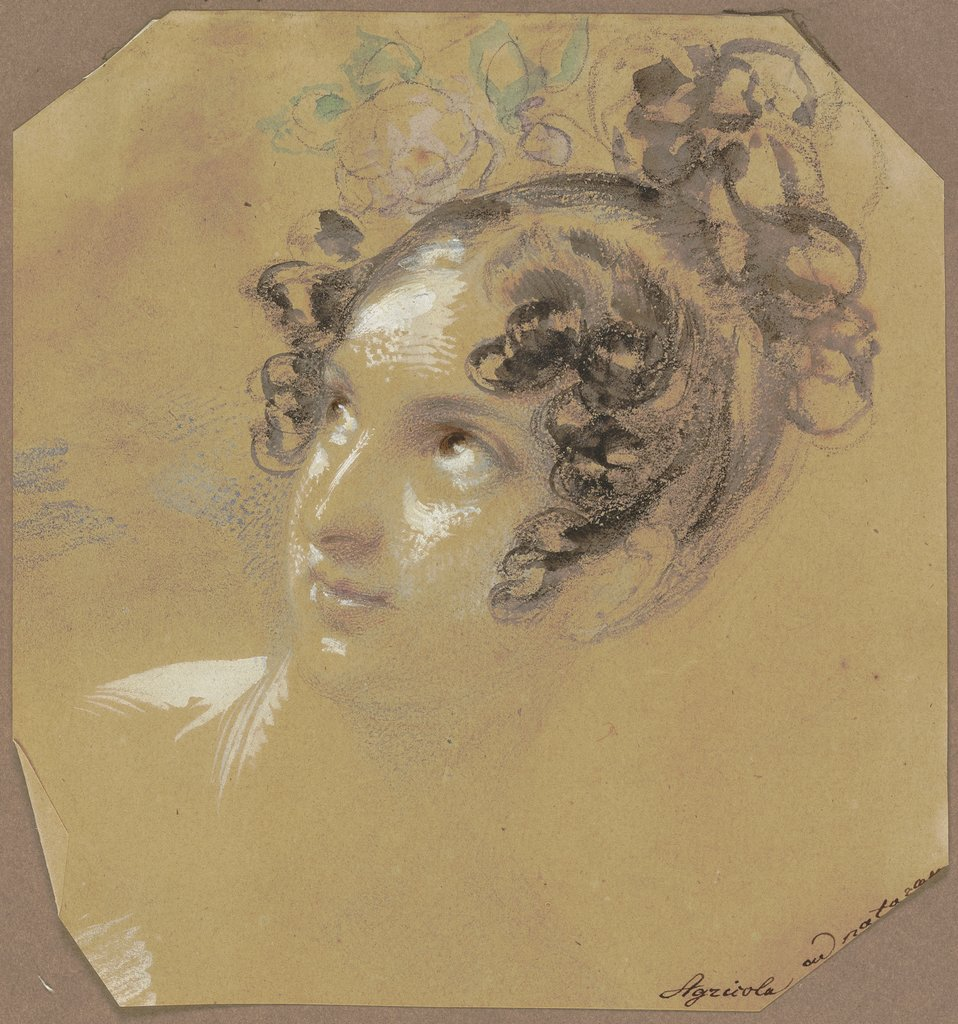 Female head, Karl Joseph Aloys Agricola