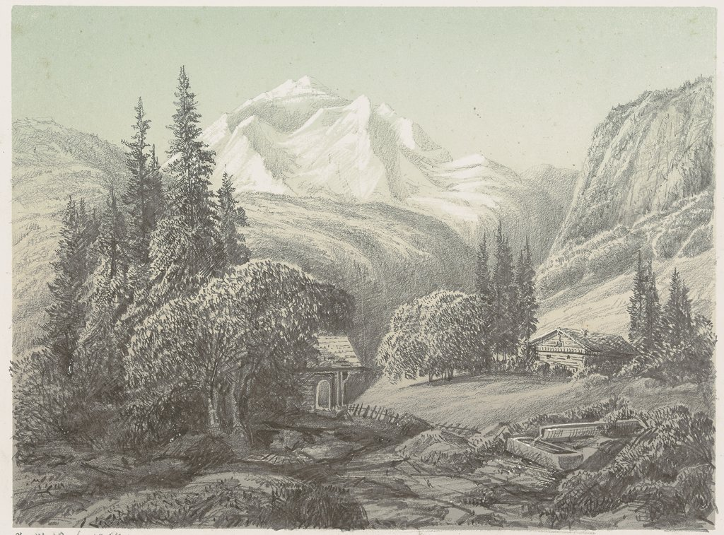 Die Jungfrau in den Berner Alpen, German, 19th century