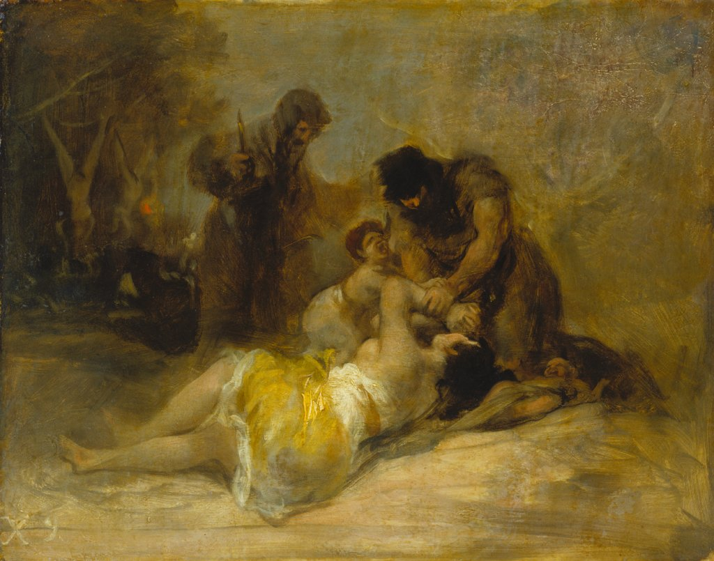 Attack on a Woman, Francisco de Goya   ?