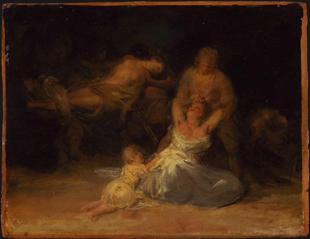Act of Violence against Two Women, Francisco de Goya   ?
