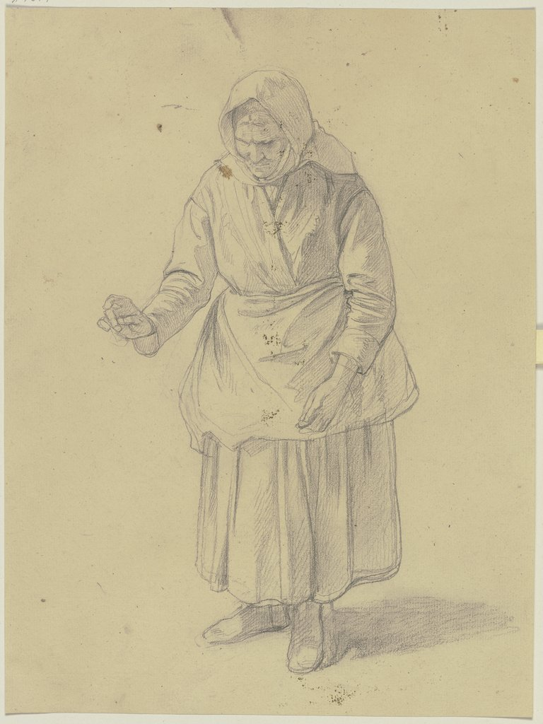 Old farmer woman, Jakob Becker