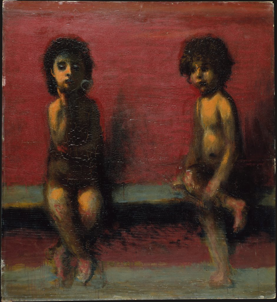 Two Seated Children, Hans von Marées