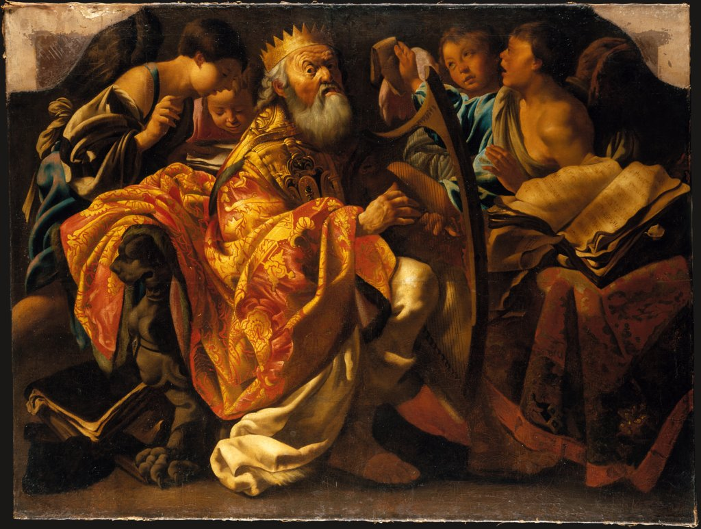 King David Playing the Harp, Kopie nach Hendrick ter Brugghen
