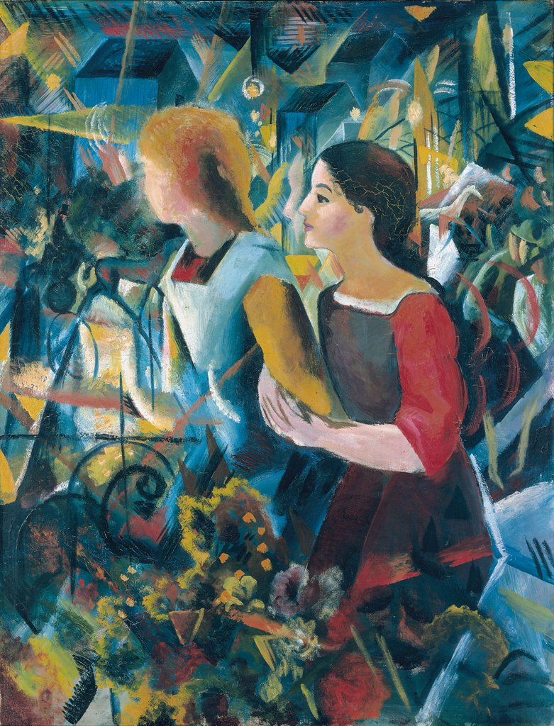 Two Girls, August Macke