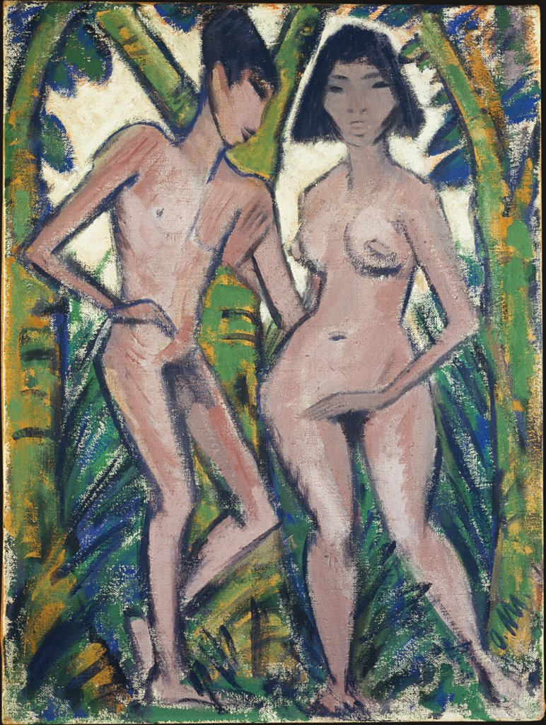 Adam and Eve, Otto Mueller