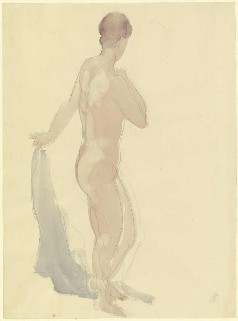 Nude seen from behind, standing, Karl Albiker