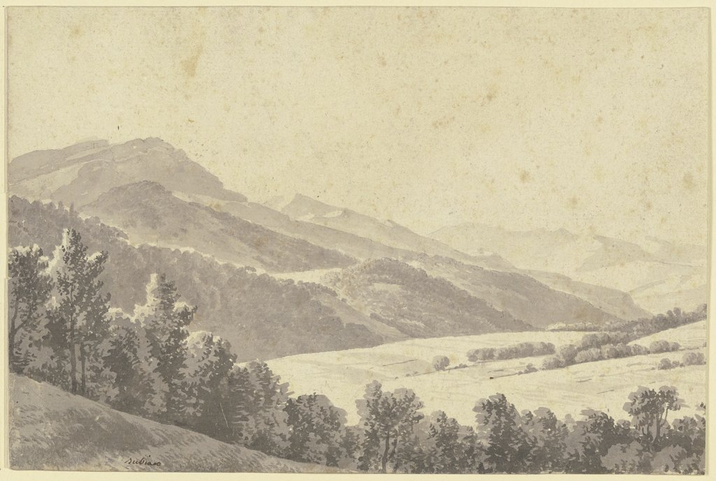 Landscape near Subiaco, French, 19th century