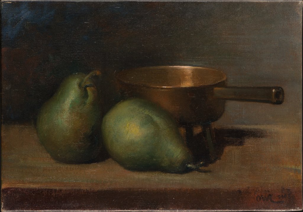 Still Life with Pears and Casserole, Ottilie W. Roederstein