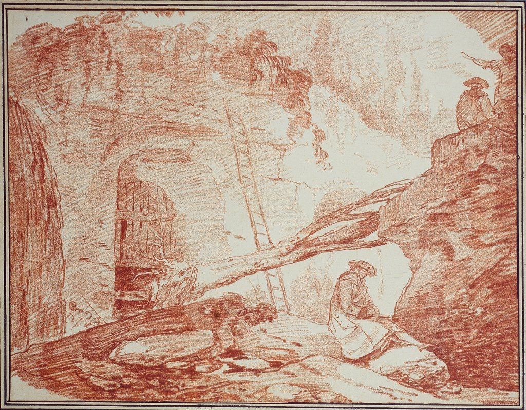 Draughtsman in the Ruins of the Palatine, Hubert Robert