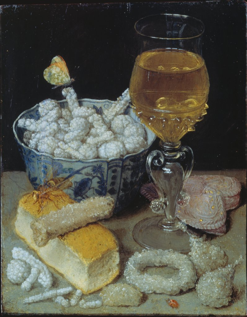 Still Life with Bread and Sweetmeats, Georg Flegel