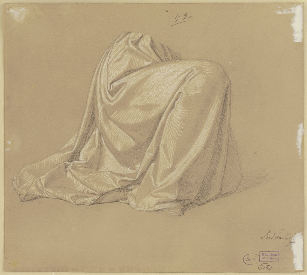 Kneeling garbed figure, Josef Ferdinand Becker