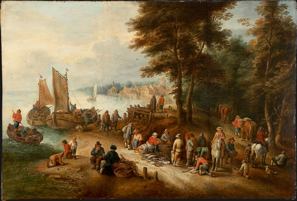 Fish Market on the Shore, Theobald Michau