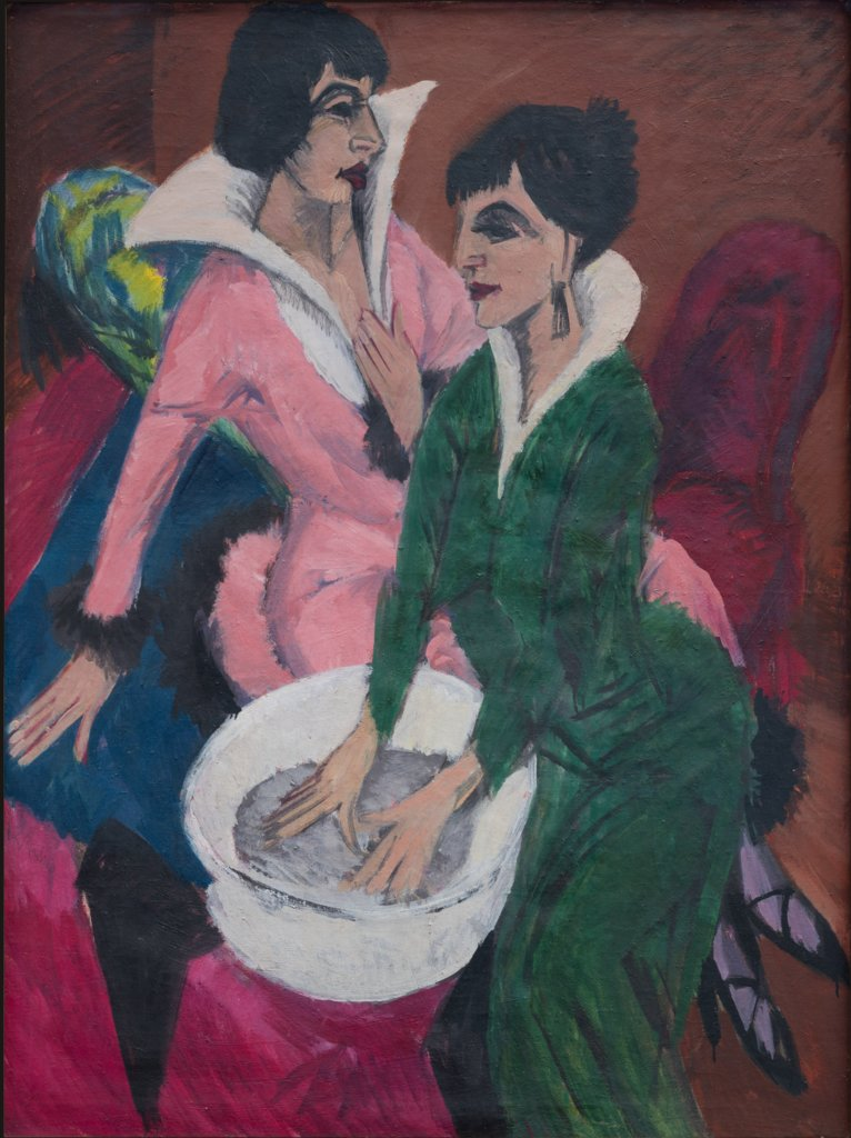 Two Women by a Sink; The Sisters, Ernst Ludwig Kirchner