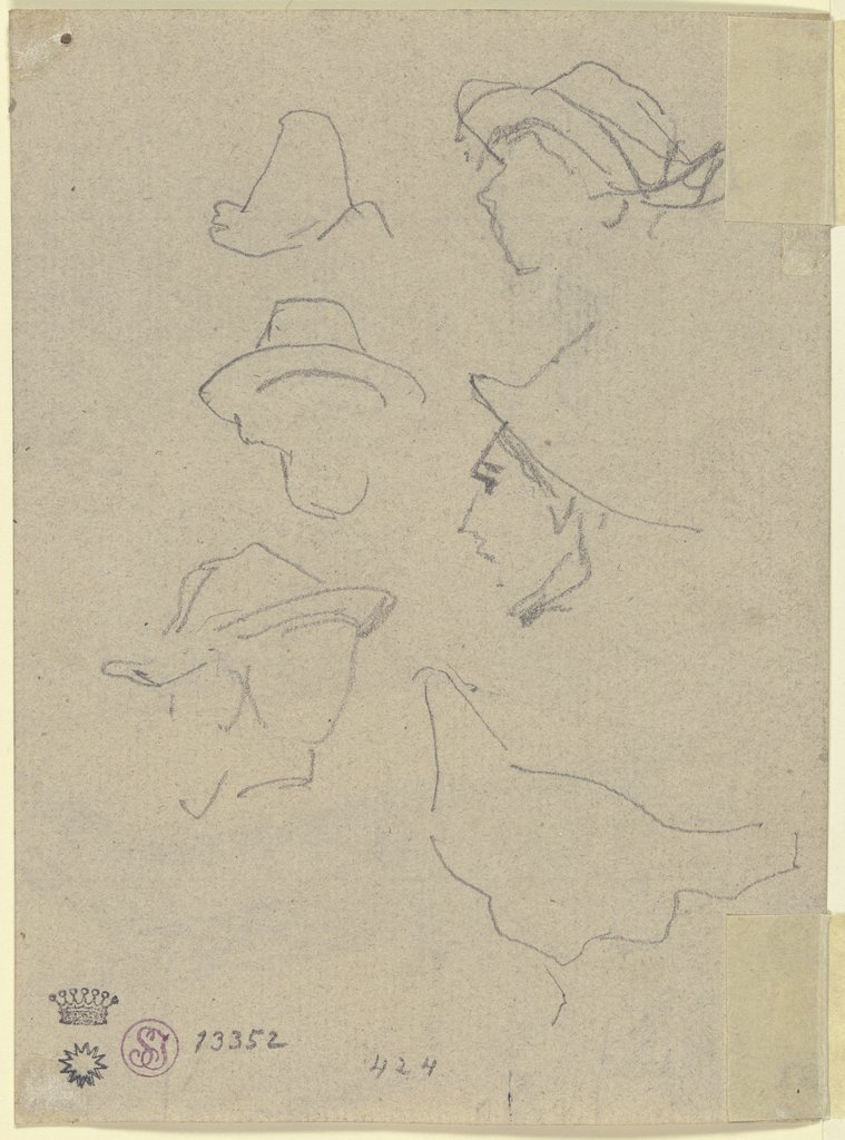 Study of a head, August von Pettenkofen