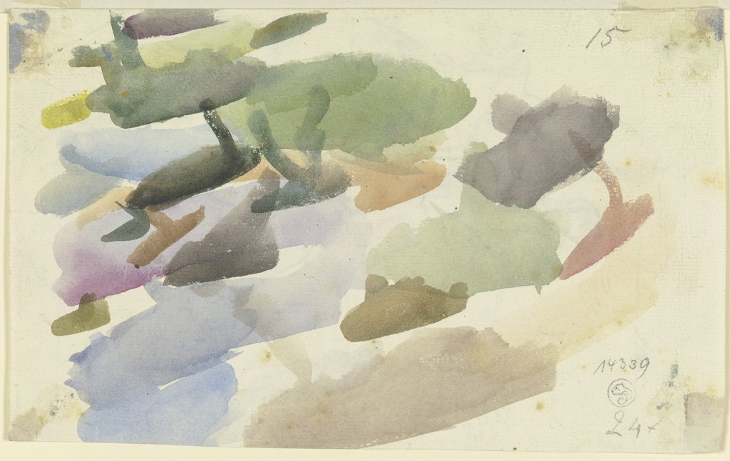 Watercolour samples, August Lucas