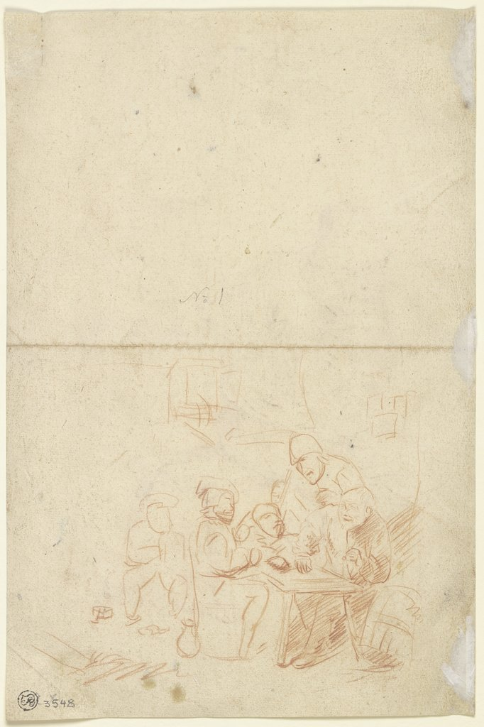 Farmers at a table, Egbert Jaspersz. van Heemskerck