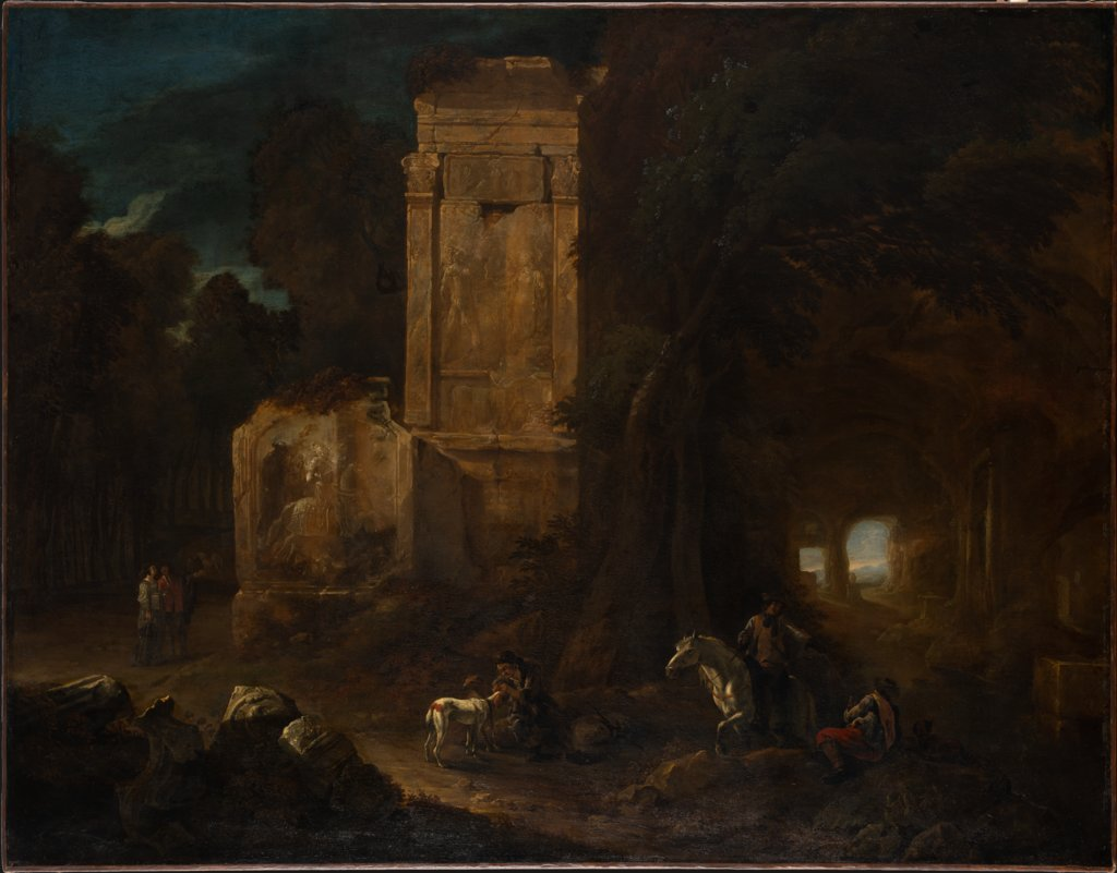 Landscape with Ancient Ruins, Abraham van Cuylenborch