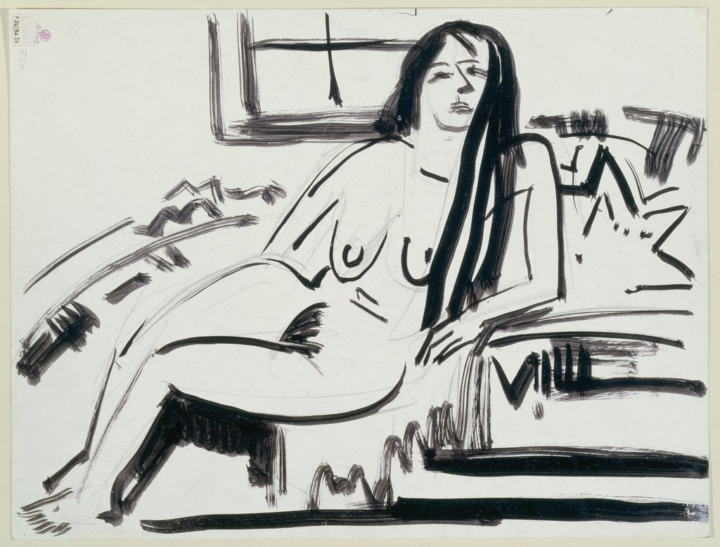Lying nude, Ernst Ludwig Kirchner