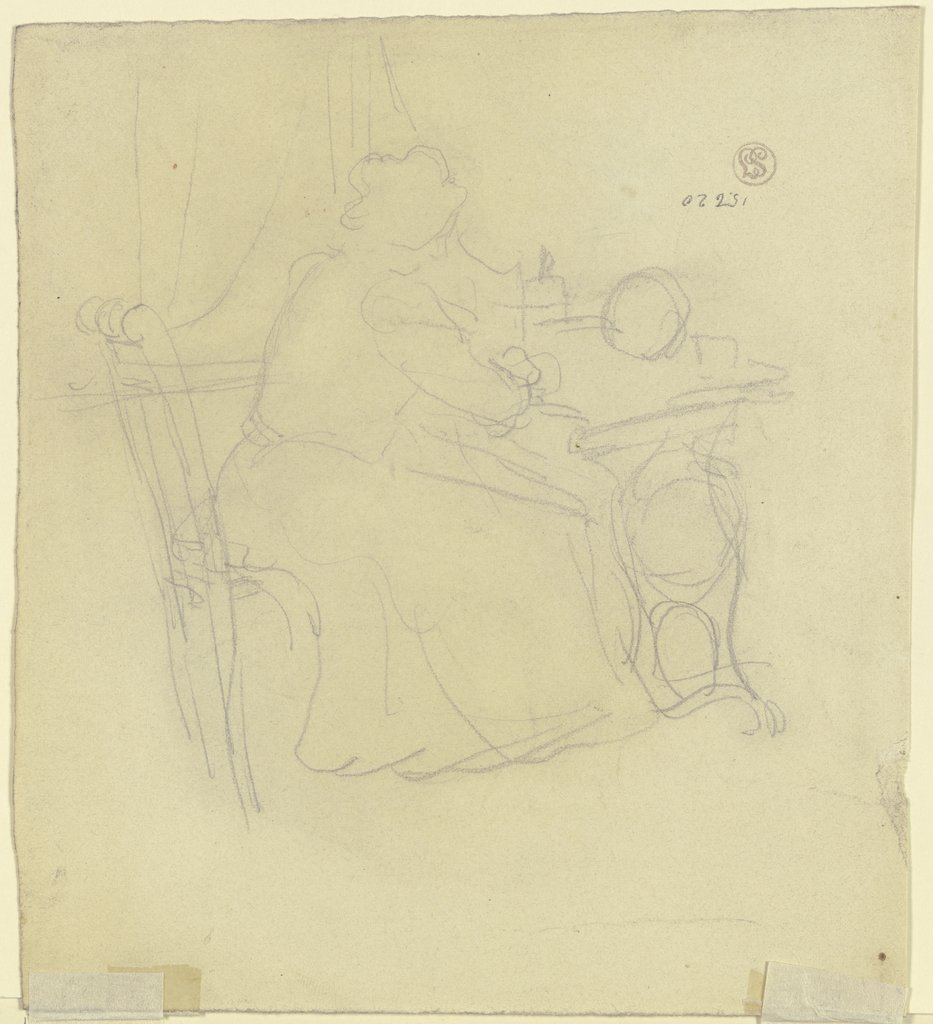 Woman at the sewing machine, Gustav Schraegle