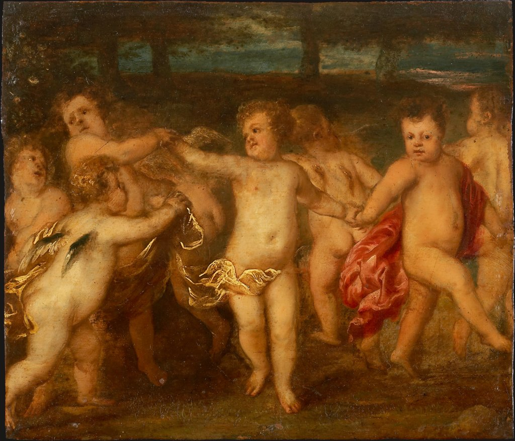 Putti Doing a Roundelay, Anthony van Dyck  imitator