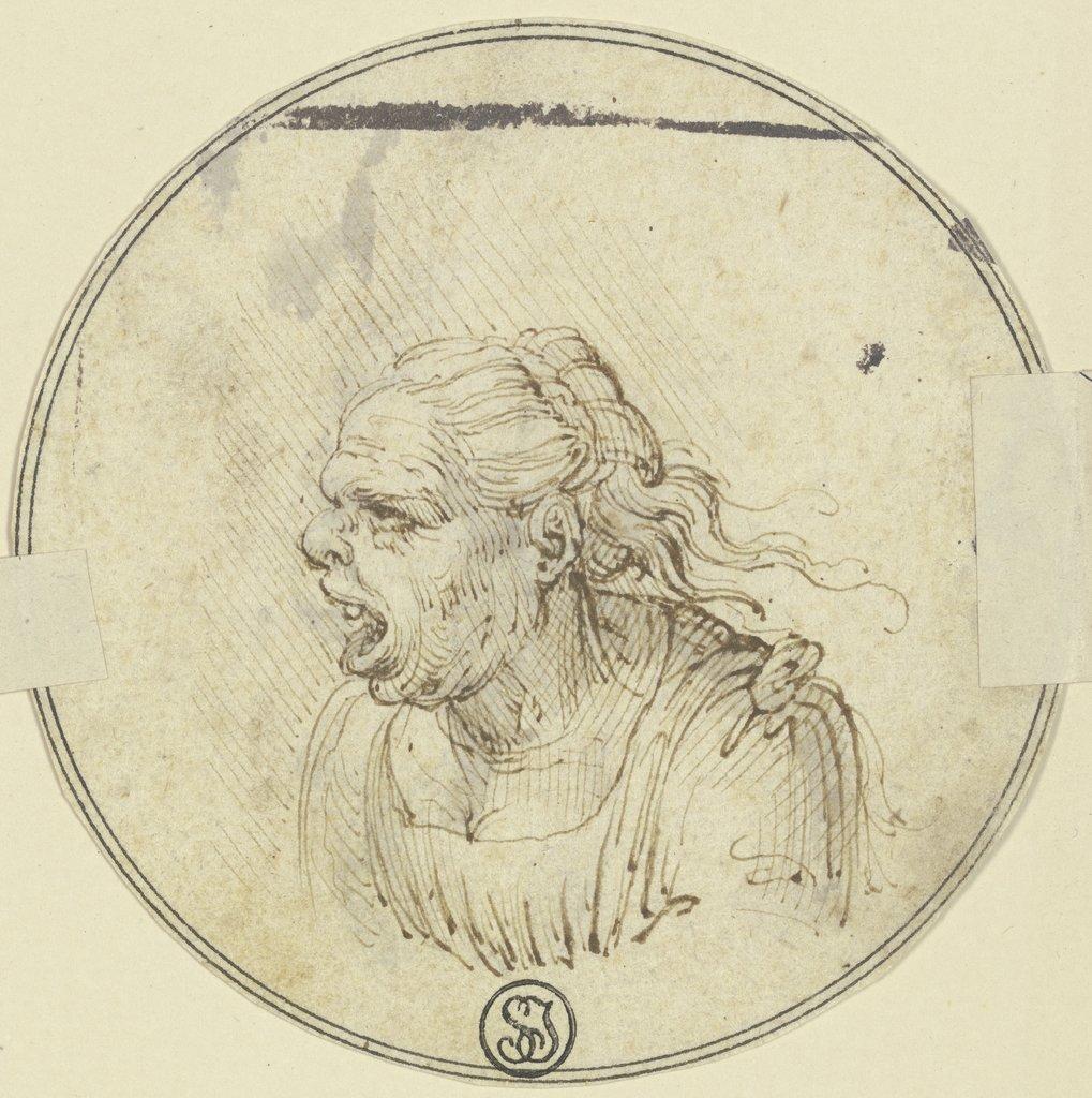 Den mit gesichtern karikatur der 2 mann Der Mann
