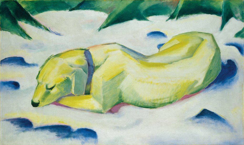 Dog Lying in the Snow, Franz Marc