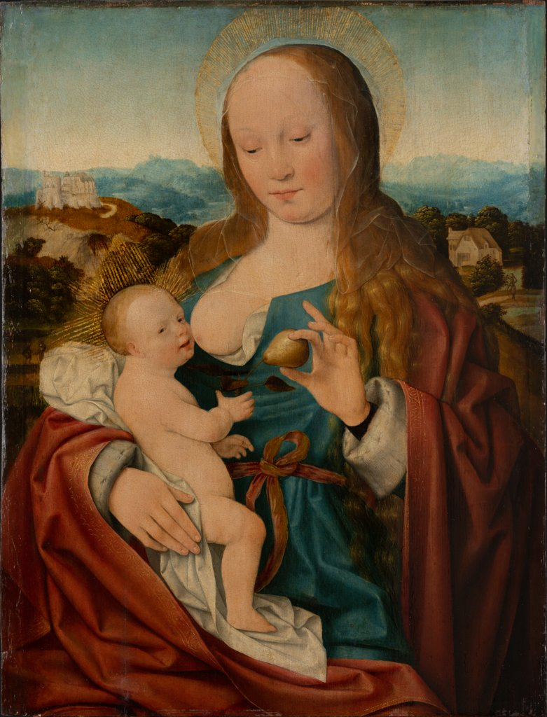 Madonna with Pear, Joos van Cleve