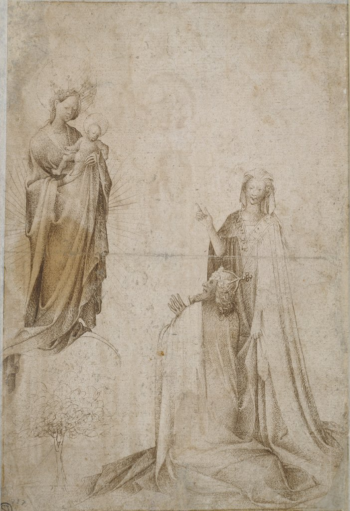 Augustus and the Tiburtine Sibyl, Netherlandish, 14th century