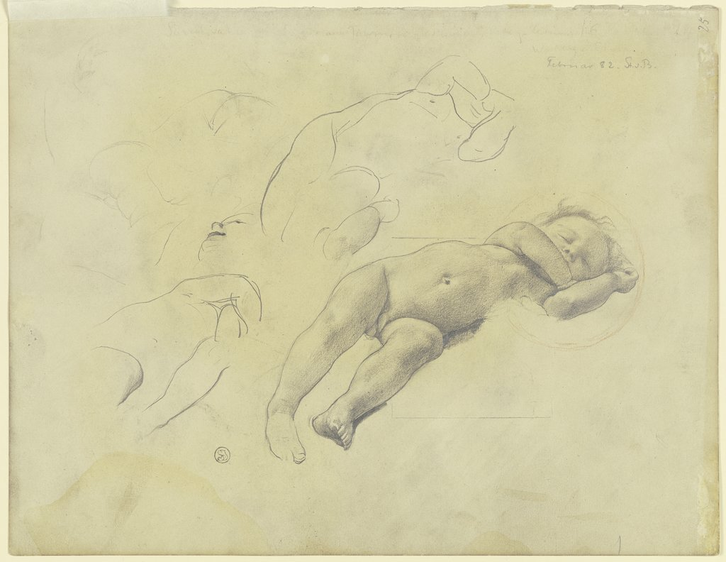 Nude of a child, Karl Stauffer-Bern