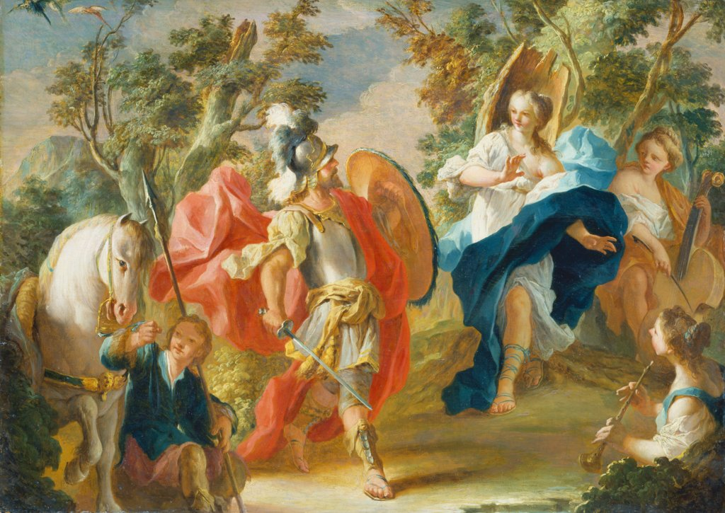 Rinaldo and Armida in the Magic Forest, Anton Kern   attributed
