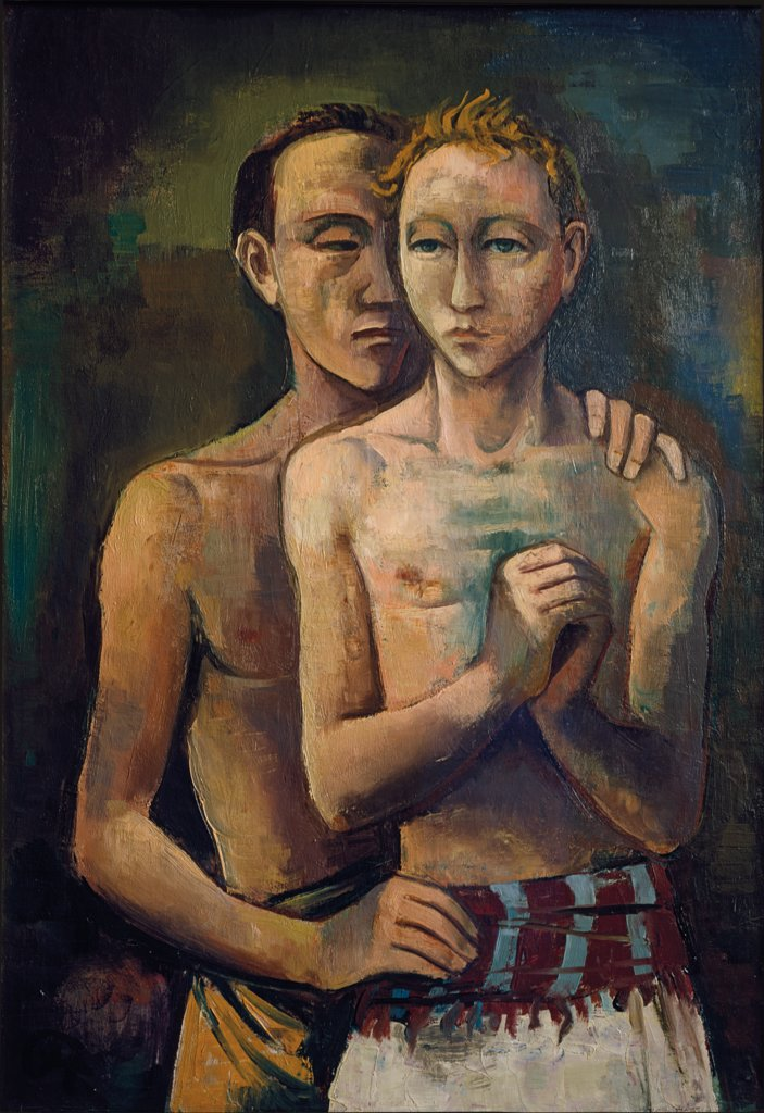 Two Friends, Karl Hofer