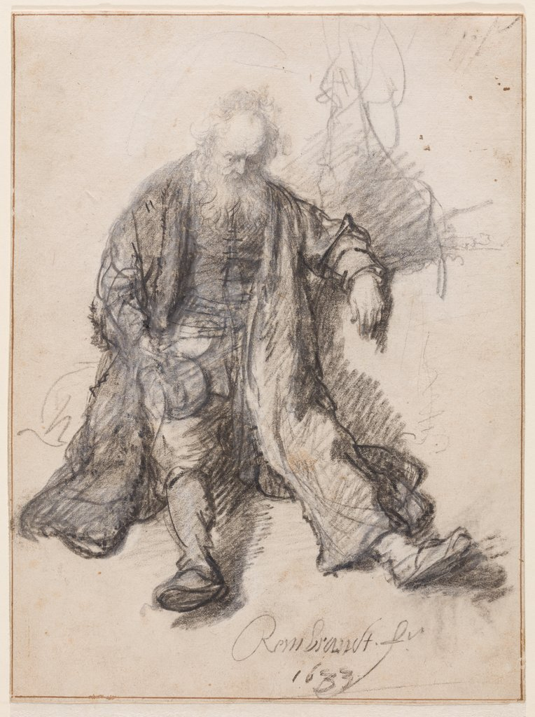 Old Man Seated (The Drunken Lot?), Rembrandt Harmensz. van Rijn