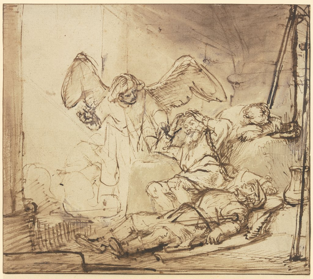 The liberation of Peter, Rembrandt Harmensz. van Rijn  school