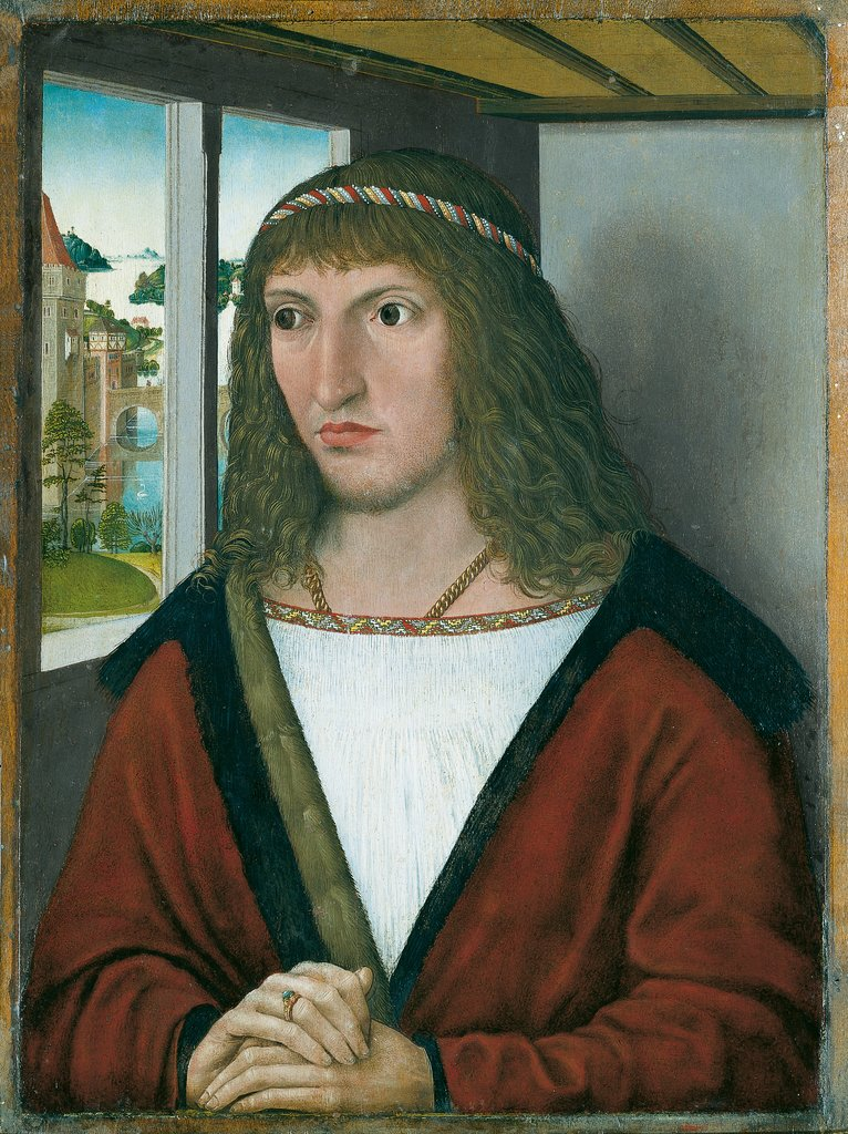 Portrait of the Younger Elector Frederick the Wise of Saxony, Nuremberg Master around 1490
