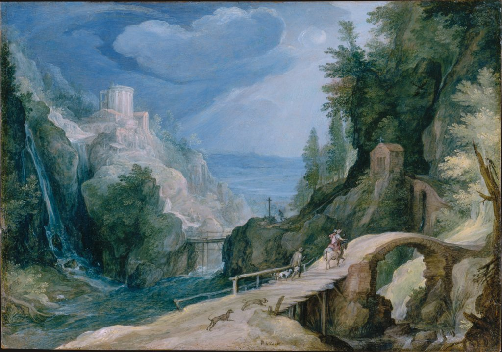 Landscape near Tivoli, Paul Bril  circle