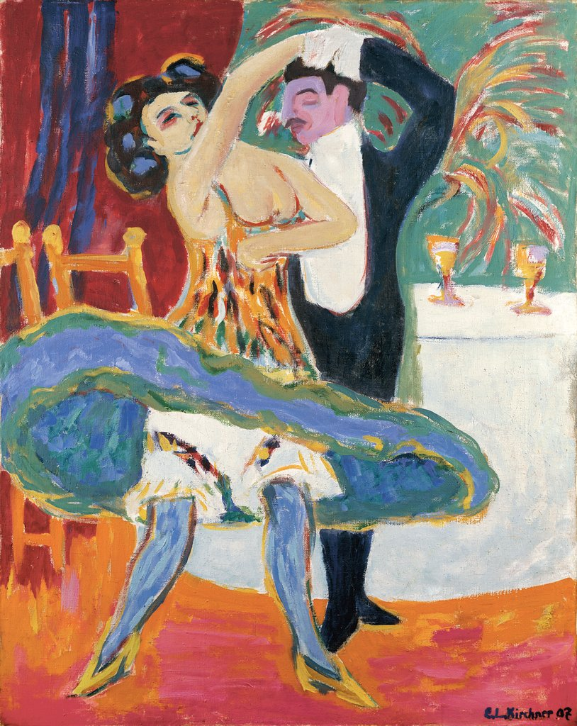 Vaudeville Theater (English Dancing Couple), Ernst Ludwig Kirchner
