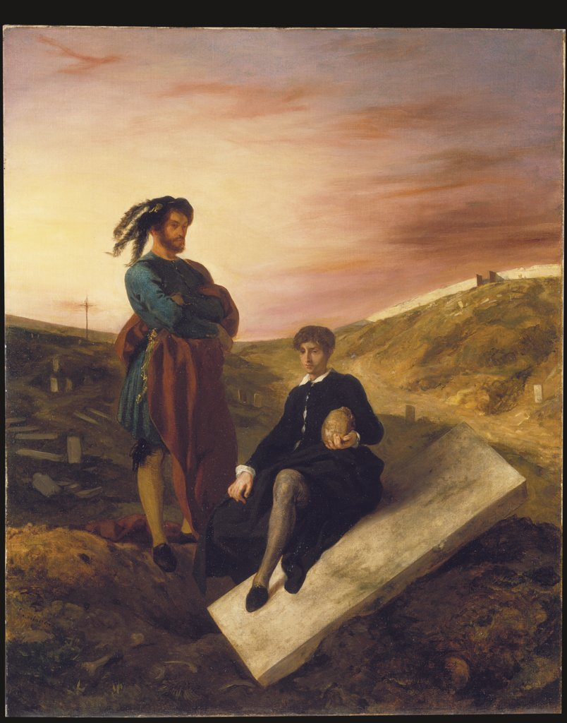 Hamlet and Horatio at the Cemetery, Eugène Delacroix