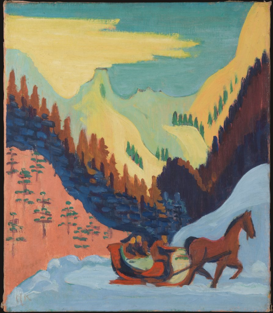 Sleigh Ride in the Snow, Ernst Ludwig Kirchner
