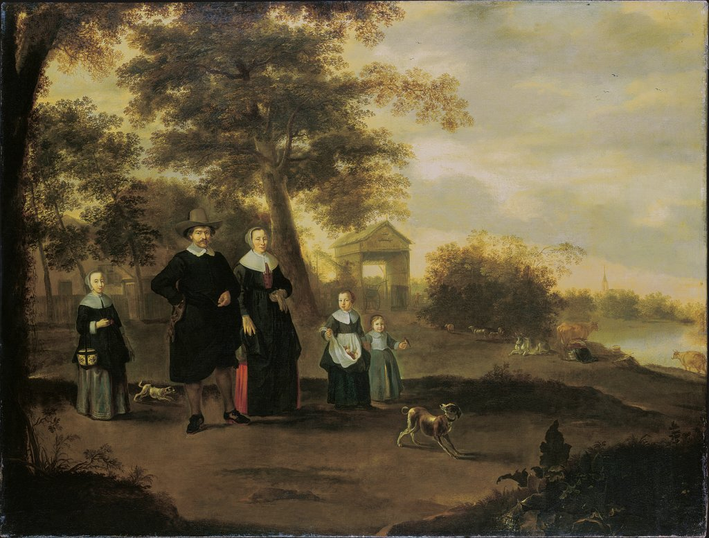 The Family of Preacher Reinier Halma in Langerak on the Lek, Jacques Muller, Jacob Gerritsz. Bemmel