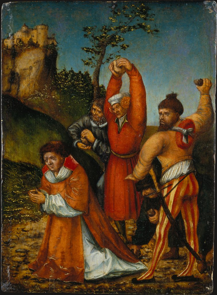 The Stoning of St Stephen, Lucas Cranach the Elder  Werkstatt