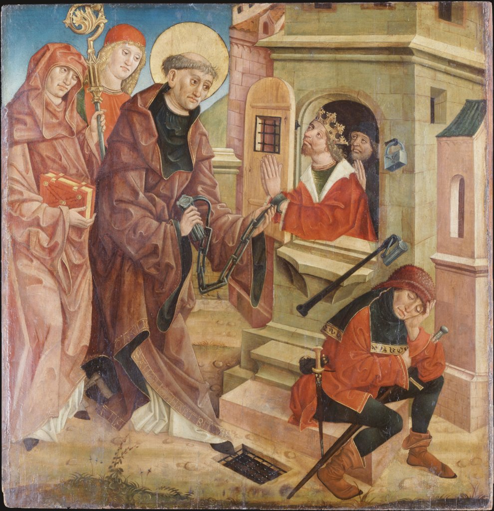 St Leonard Freeing Prisoners, Austrian Master around 1490